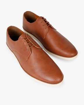 textured laceup casual shoes in 2020  dress shoes men