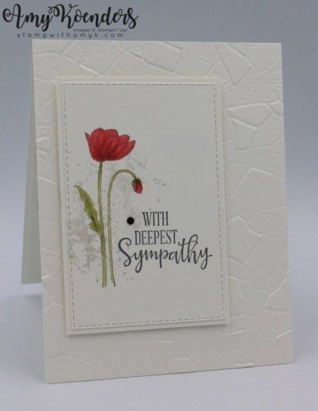 Stampin' Up! Painted Poppies CAS Sympathy Card