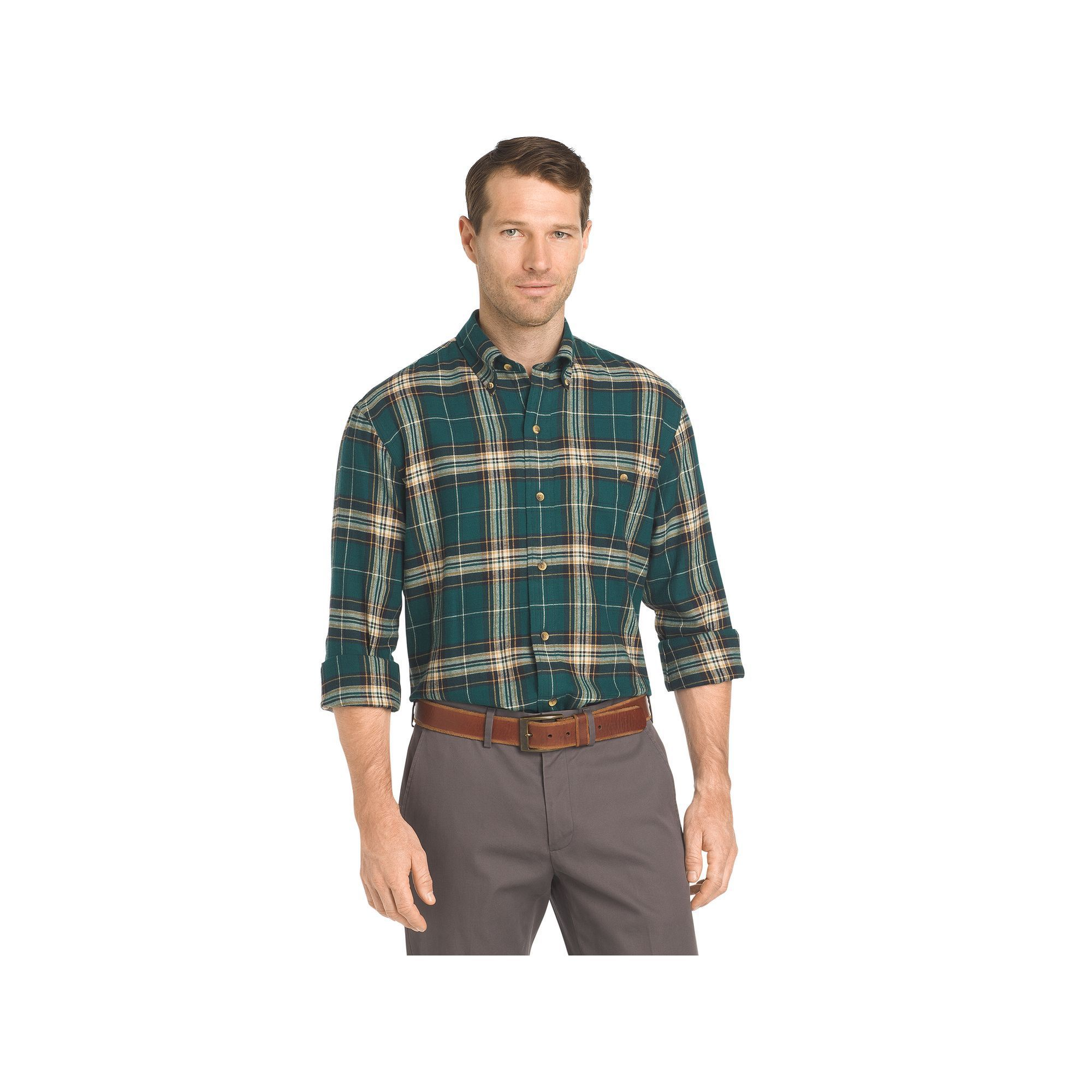 Flannel shirts at kohl's  Big u Tall Arrow Saranac RegularFit Plaid Flannel ButtonDown Shirt