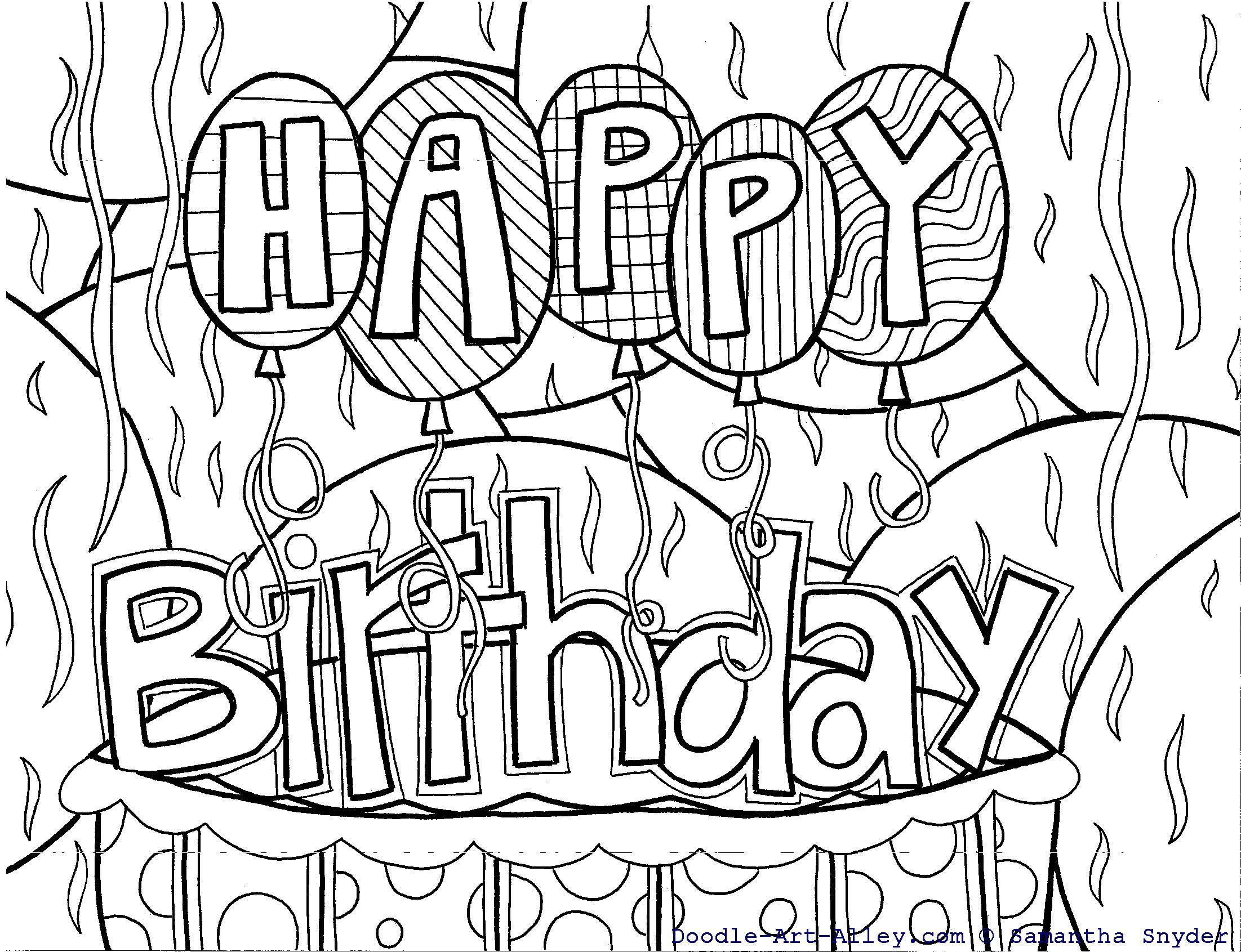 Happybirthday Doodle Art Alley