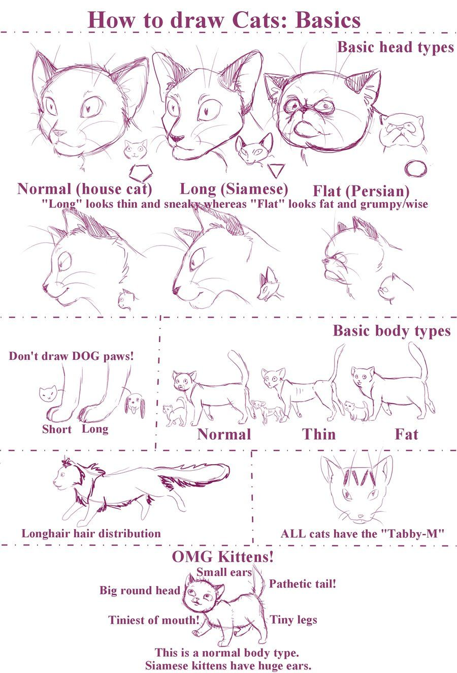 How to draw Cats by Stock-Heil.deviantart.com on @deviantART   Tips ...