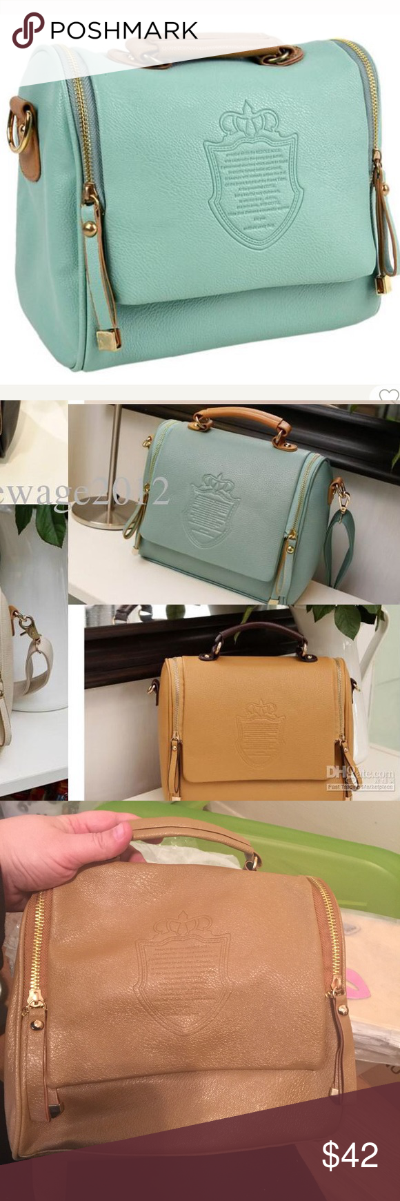1f53dc4f9957 PU leather cross body bag Bags are size medium top handle cross body bags  coming with adjustable strap in a plastic bag for easier shipping.