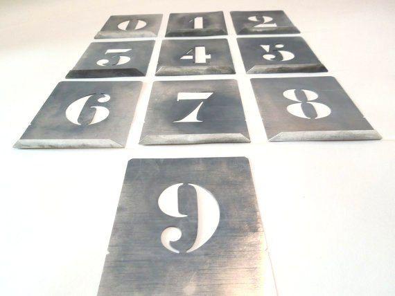 Number Stencils Vintage Look Aluminum Set Lipped Metal French Zinc Alphabet Letters Abc Brass Aluminium W Lettering Alphabet Number Stencils Handmade