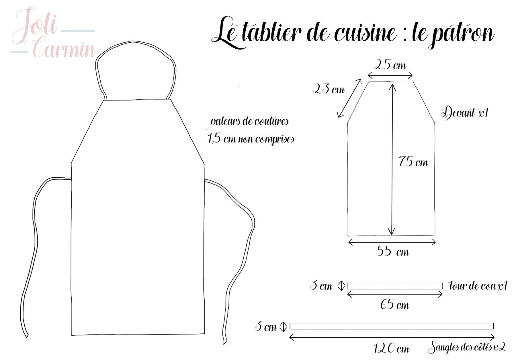 Coudre Un Tablier De Cuisine Tuto Couture Blog Couture En 2020