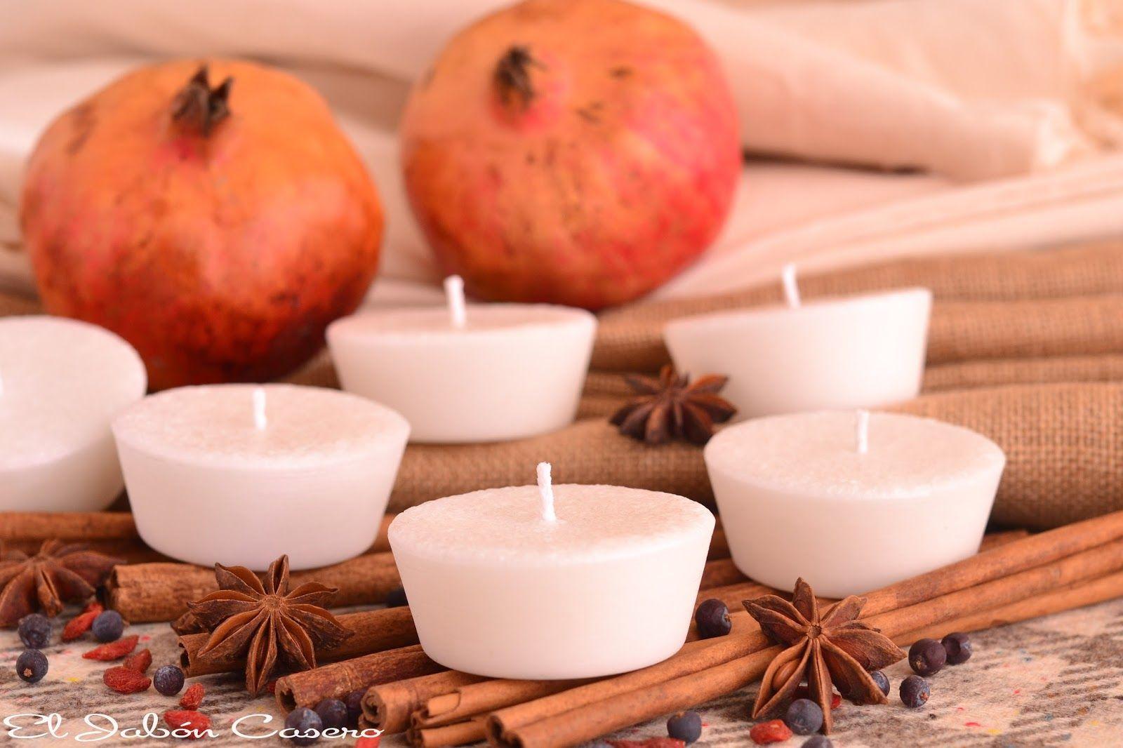 """Velas naturales perfumadas """"Otoño"""". Detalles artesanales de boda. Estas velas están hechas a mano, una a una; perfumadas con aceites esenciales naturales."""