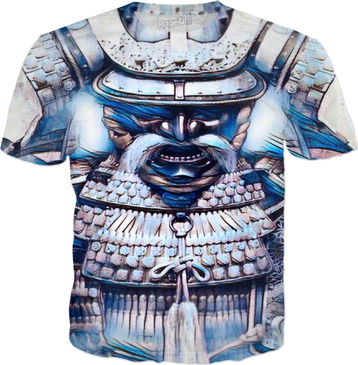 Ancient Samurai Warrior Spirit Gouache Art by Willy Badu.
