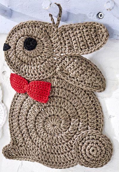 Presine gallina e coniglio all 39 uncinetto lavoro a maglia for Piani di coperta facili