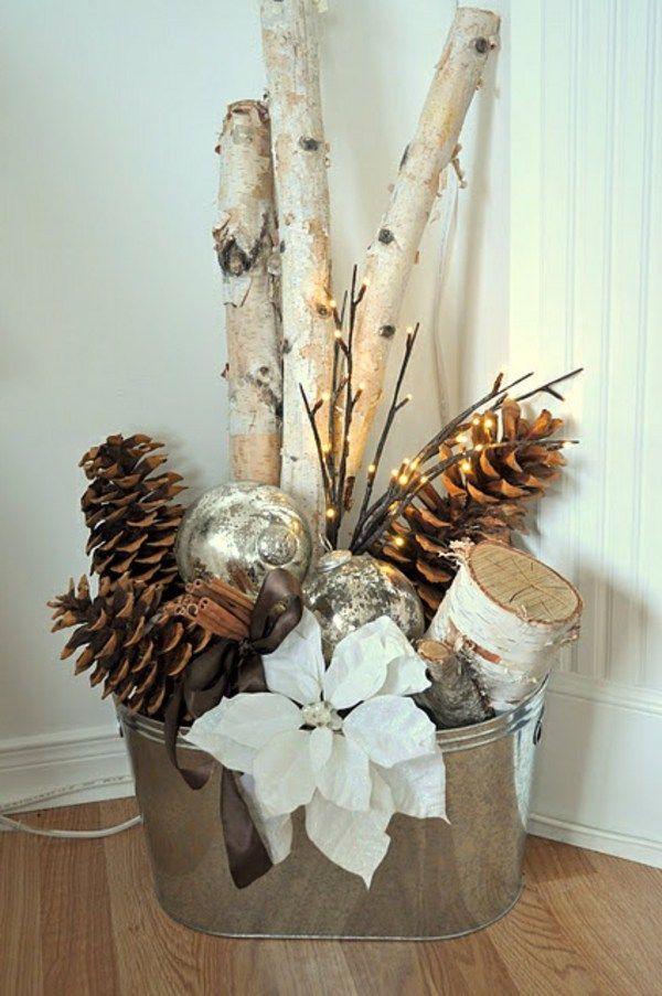 dekoration fantastische birkenstamm deko - Fantastisch Weihnachtsdeko Ideen