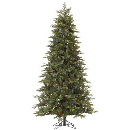 9\u0027 Pre-Lit Slim Rocky Mountain Instant Shape Artificial Christmas