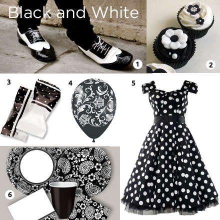 Classic Wingtip Shoes Dress Black White Black White Theme