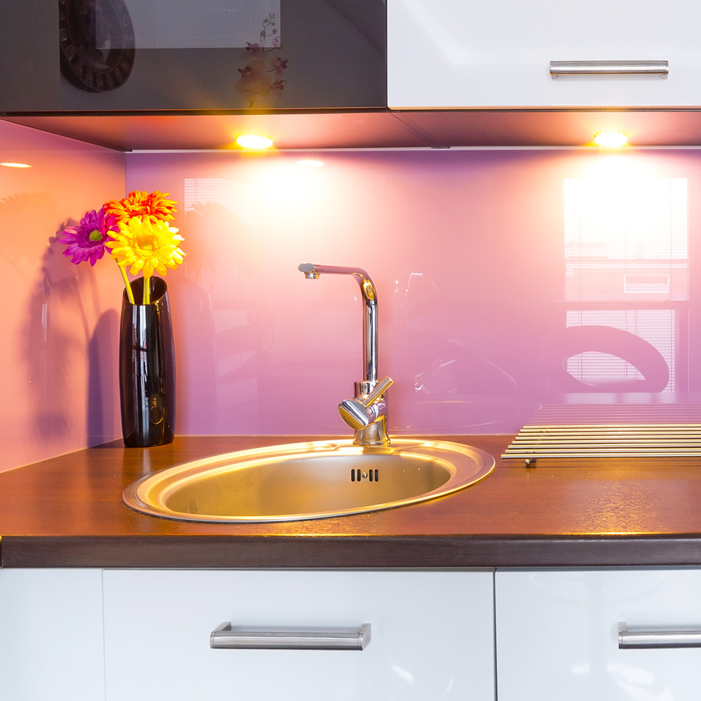 Light Pink Kitchen Acrylic Kitchen Splashbacks Design Pinterest Products
