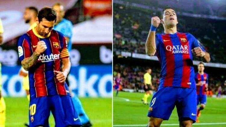 ميسي يسجل في مرمى فياريال ويحتفل على طريقة سواريز Barcelona Team Sports Jersey Football