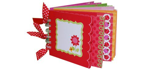 Cute mini album made with Doodlebug cards.