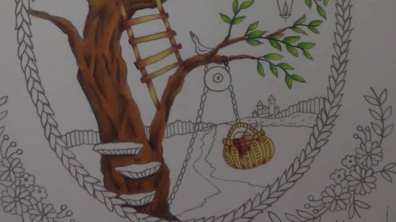 romantic country coloring book  tutorial part 3