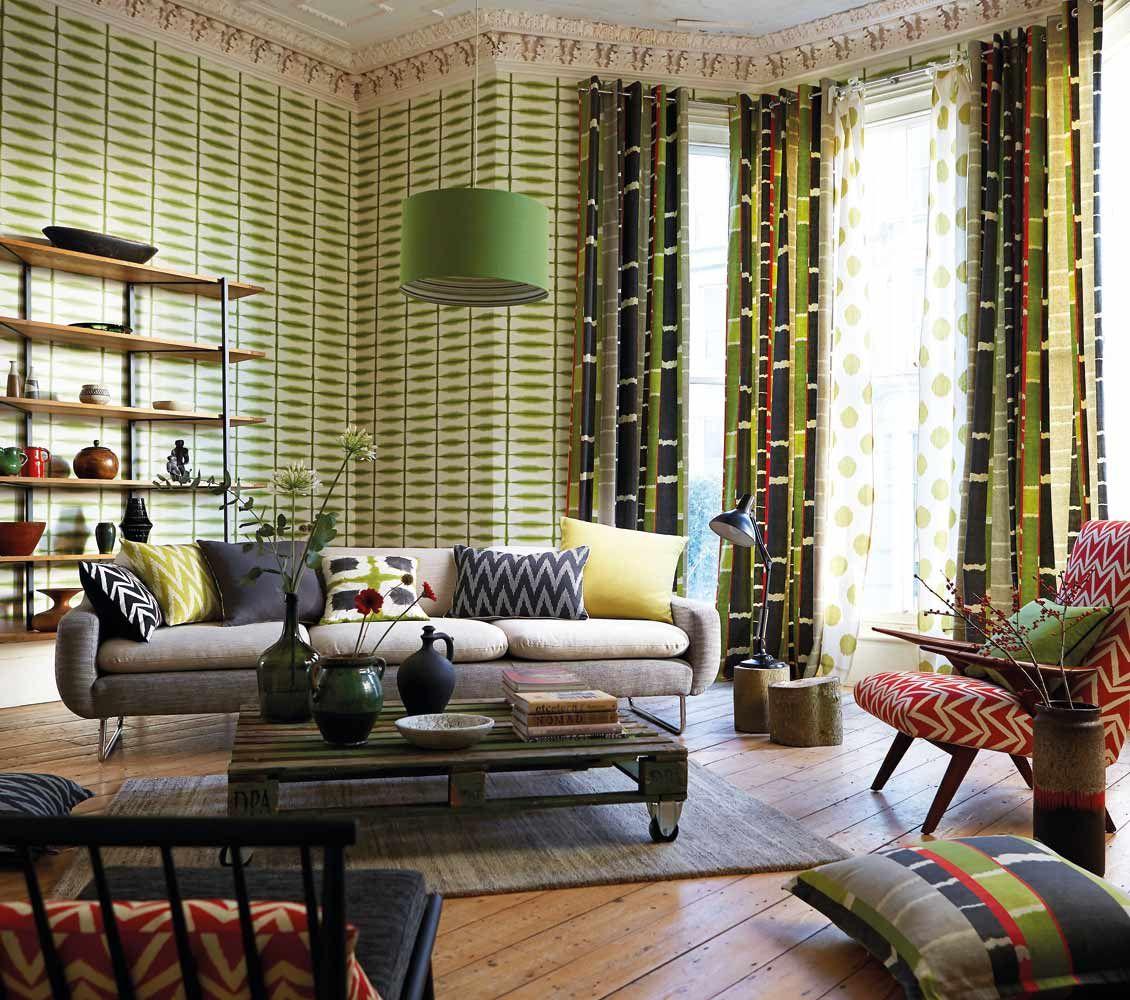 Inspirerande vardagsrum med tapet från kollektionen Wabi Sabi ...