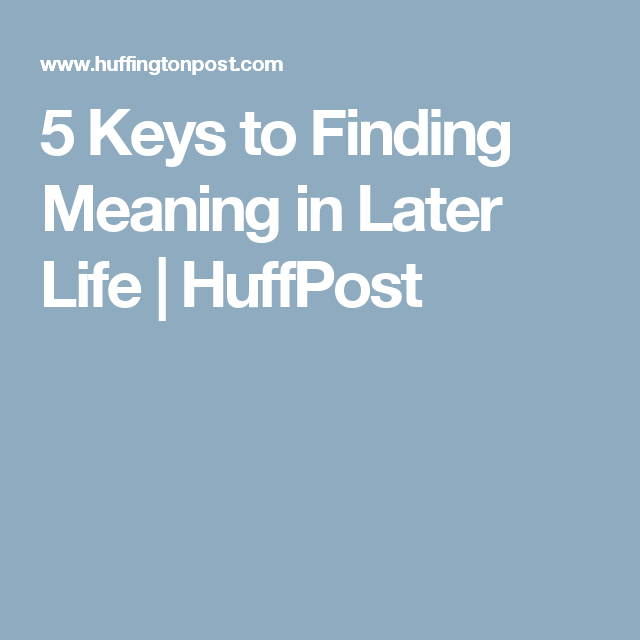 later life meaning