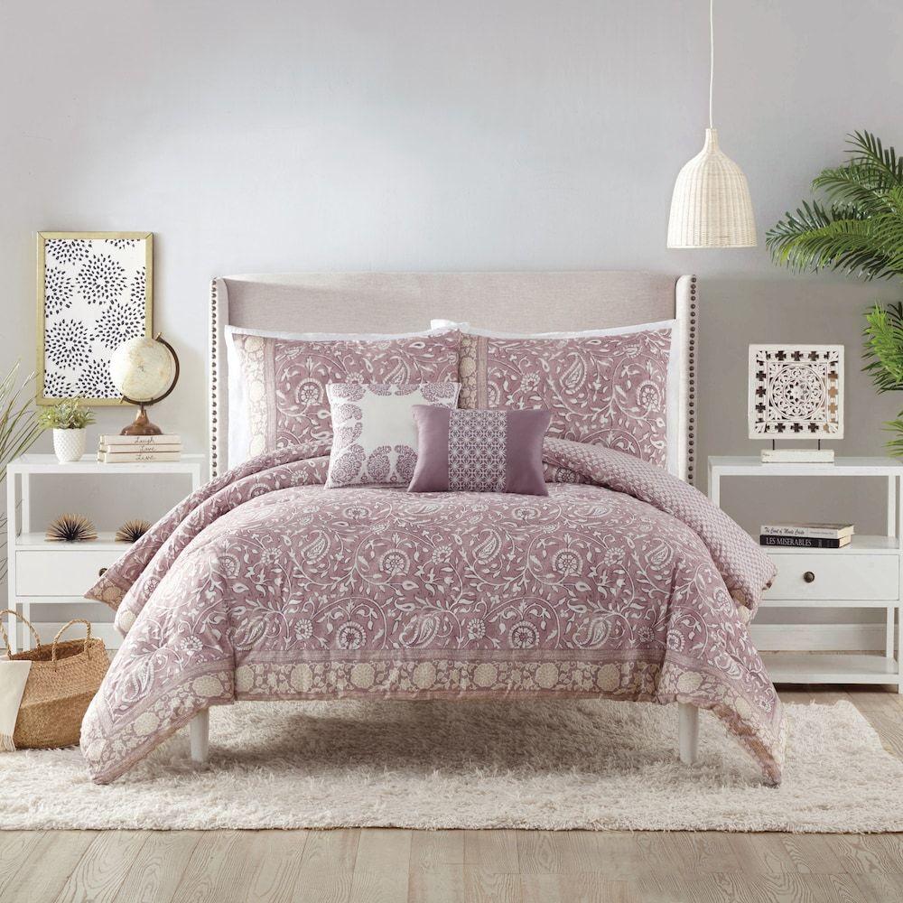 Indigo Bazaar Socorro 5 Piece Comforter Set Lt Purple Comforter
