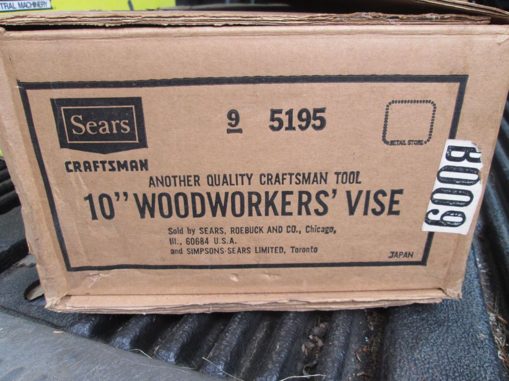 Sears Craftsman 10 Woodworking Vise 5195 Nib Tools Hardware And