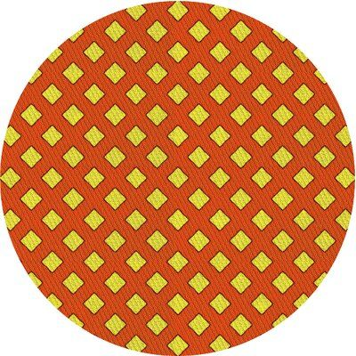 East Urban Home Mucella Geometric Wool Yellow/Orange Area Rug | Wayfair