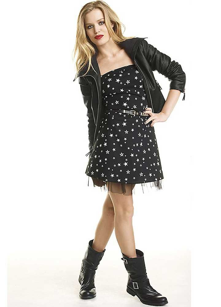 Material Girl Stars Print Dress From Streetwise 80 S Starlet To