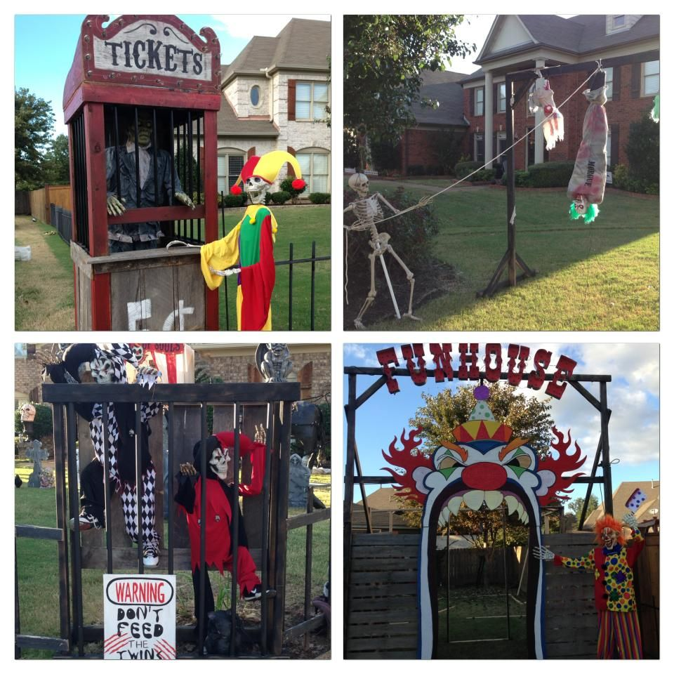 Halloween Zombie Ticket Booth & Scary Funhouse! Love All