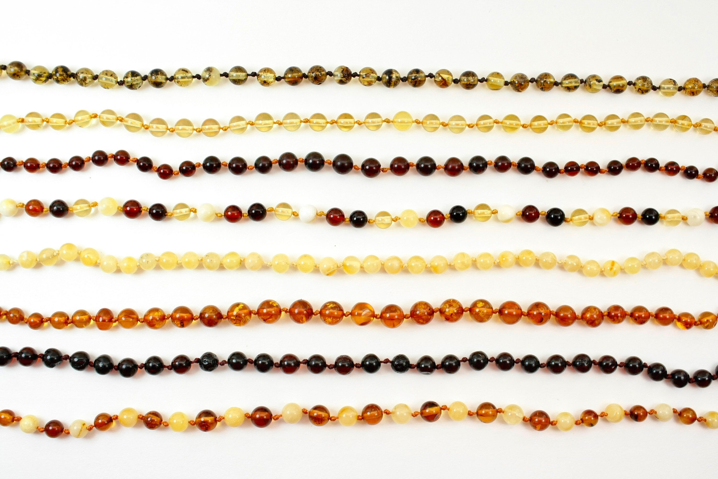 85b9d74ca8665 Premium class Round Baltic Amber Baby teething necklaces. Wholesale ...