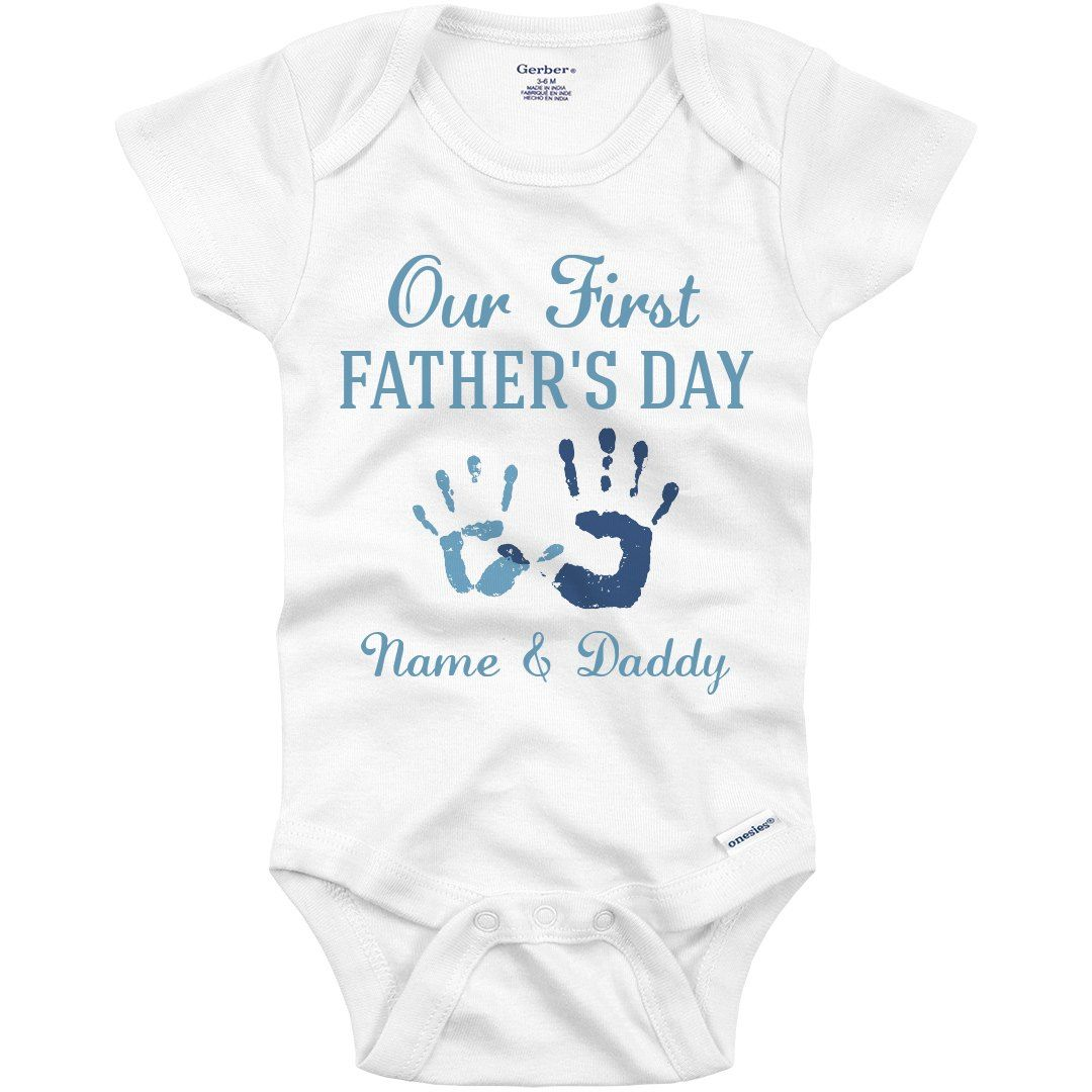 Our 1st Father/'s Day fist bump cute Personalised baby bodysuit vest babygrow