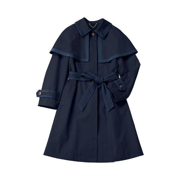 グログラントリミングのステラコート ❤ liked on Polyvore featuring outerwear, jackets and coats