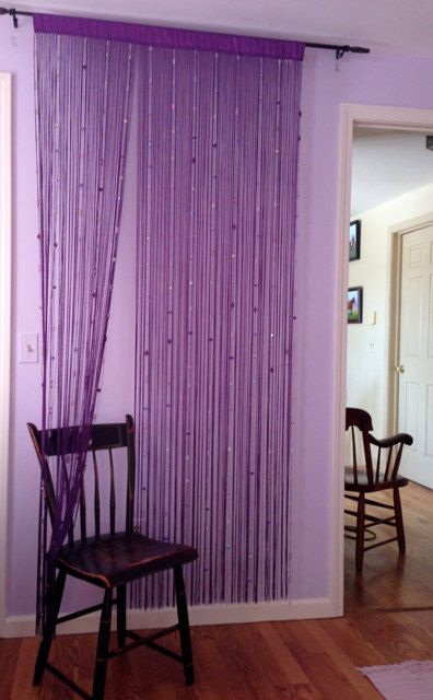 Glass Bead Curtain Room Divider Wall Art By Clinnks On Etsy 89 99 Bamboo Room Divider Room Divider Headboard Hanging Room Dividers