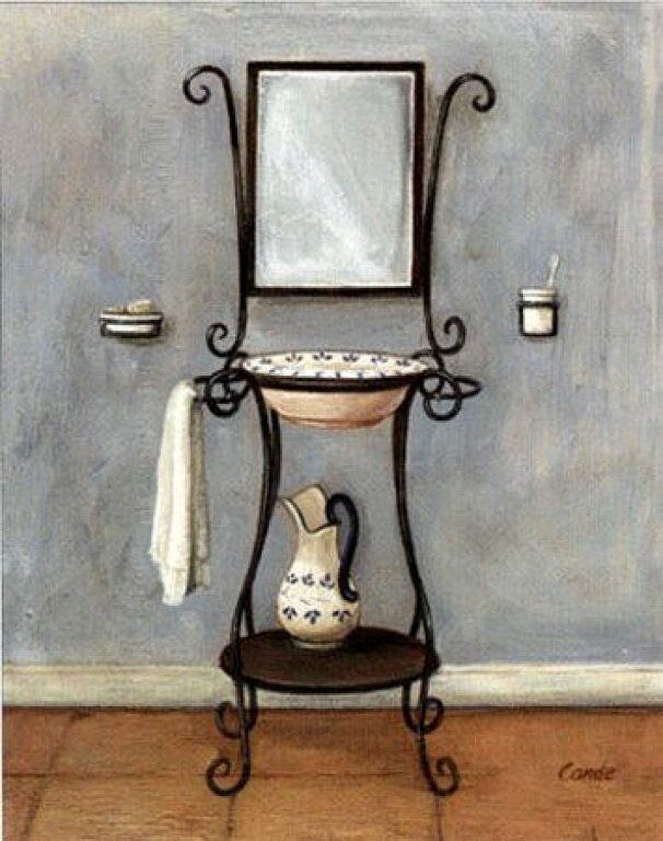 Bathroom Paintings, Bathroom Prints, Bathroom Colors, Vintage Bathrooms,  Bathroom Laundry, Art Prints, Persona, Ps, Products