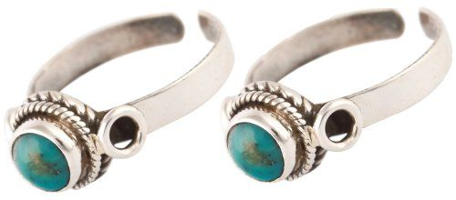 Turquoise Toe Rings (Price Per Pair) - Sterling Silver $22.00
