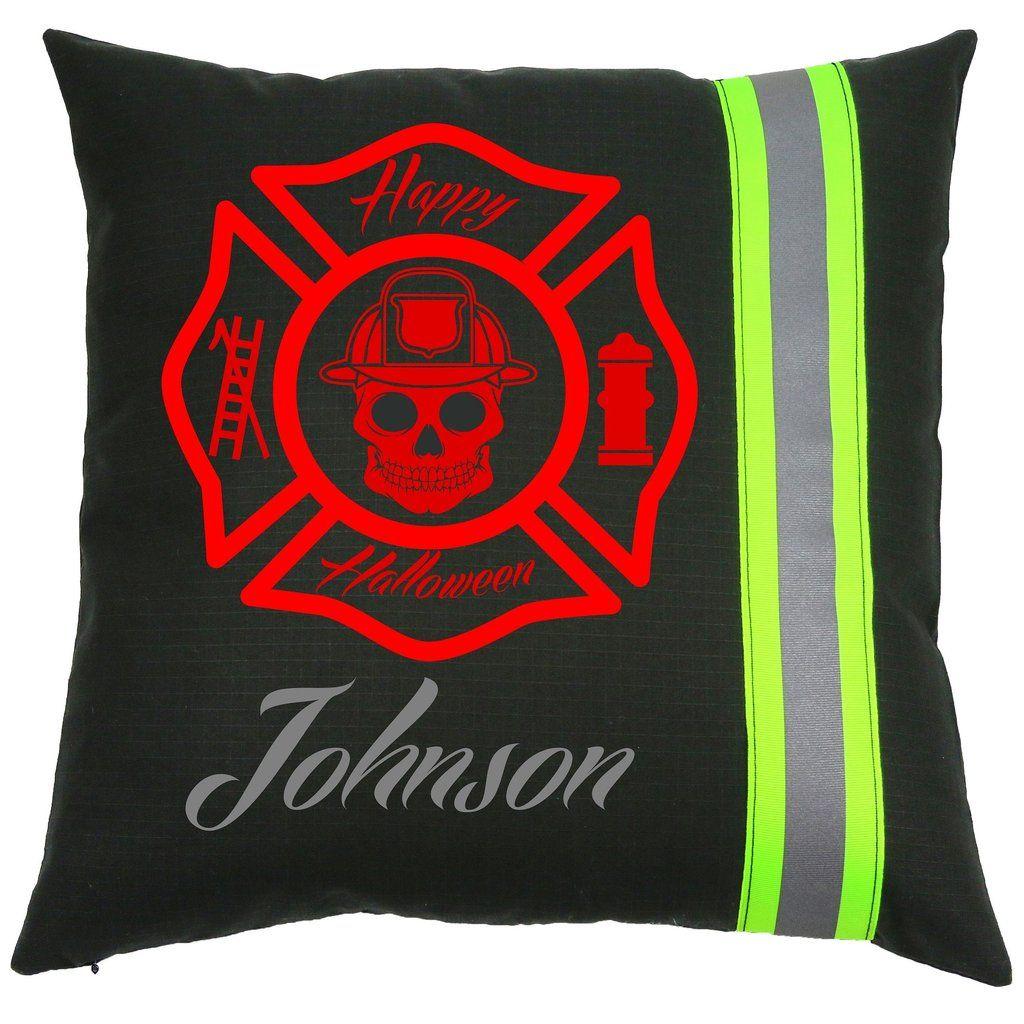 Personalized Halloween Firefighter Black Pillow With Red Maltese Cross Jpg 1024x1024 Pumpkin Stencil