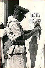 Policeman Tanzania 1970