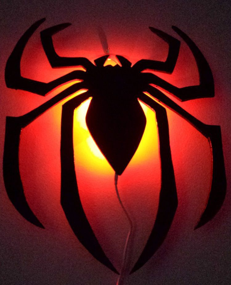 Ultimate spider man logo wall lamp led geek stuff pinterest ultimate spider man logo wall lamp led mozeypictures Gallery