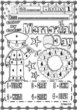 image about Memorial Day Printable Activities titled Veteran/Memorial Working day Maths Humorous Printables for children
