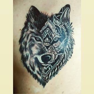 mandala wolf tattoo - Google Search | Tattoos | Picture ...
