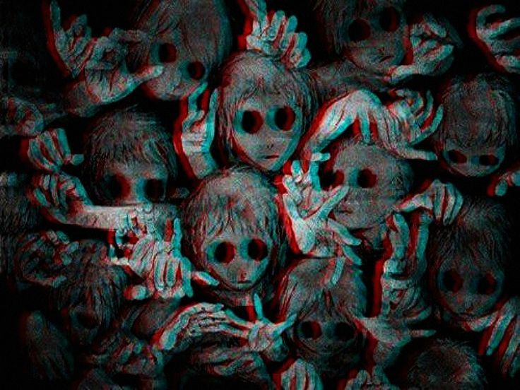 3d Creepy Children Scary Wallpaper Dark Wallpaper Creepy Backgrounds