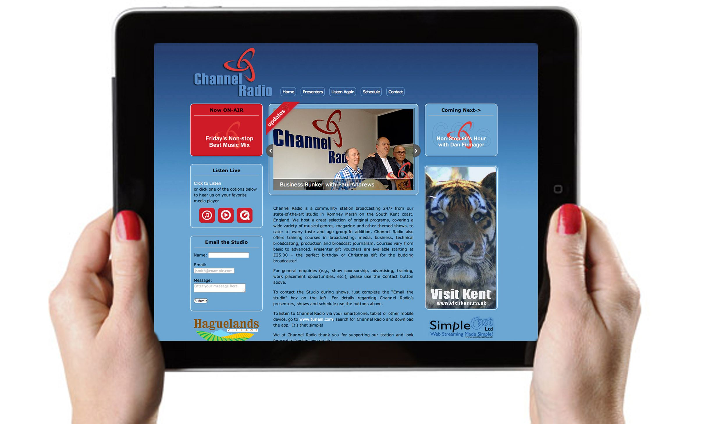 Channel Radio works on all mobile apps. Download app from