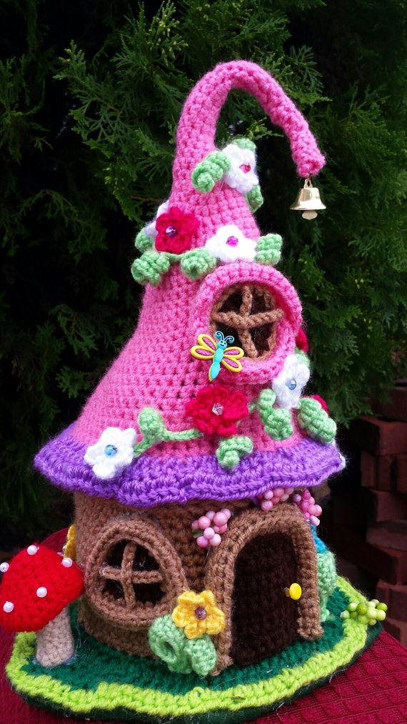 Fee / Gnome Fantasy Haus Handarbeit häkeln von emcrafts auf Etsy ...