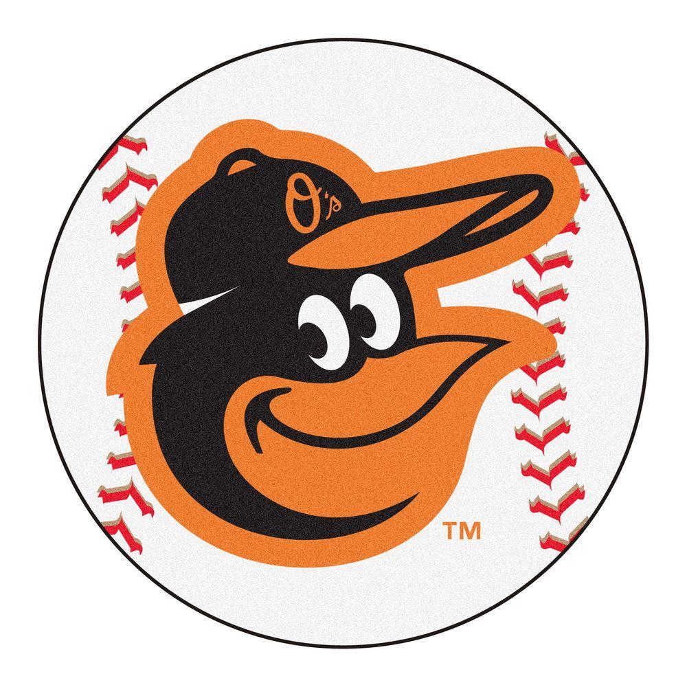 Fanmats Mlb Baltimore Orioles Photorealistic 27 In Round Baseball Mat 15173 Baseball Rugs Baltimore Orioles Baseball Orioles Baseball