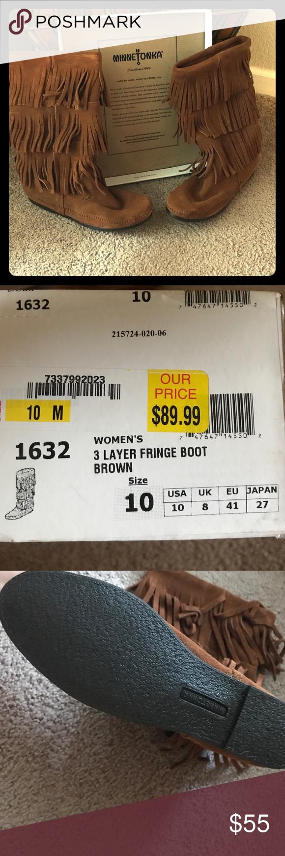 Never worn Minnetonka boots Brand new boots size 10. Shoes Winter & Rain Boots