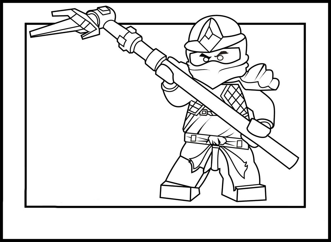 Lego Ninja Go Coloring Pages 11