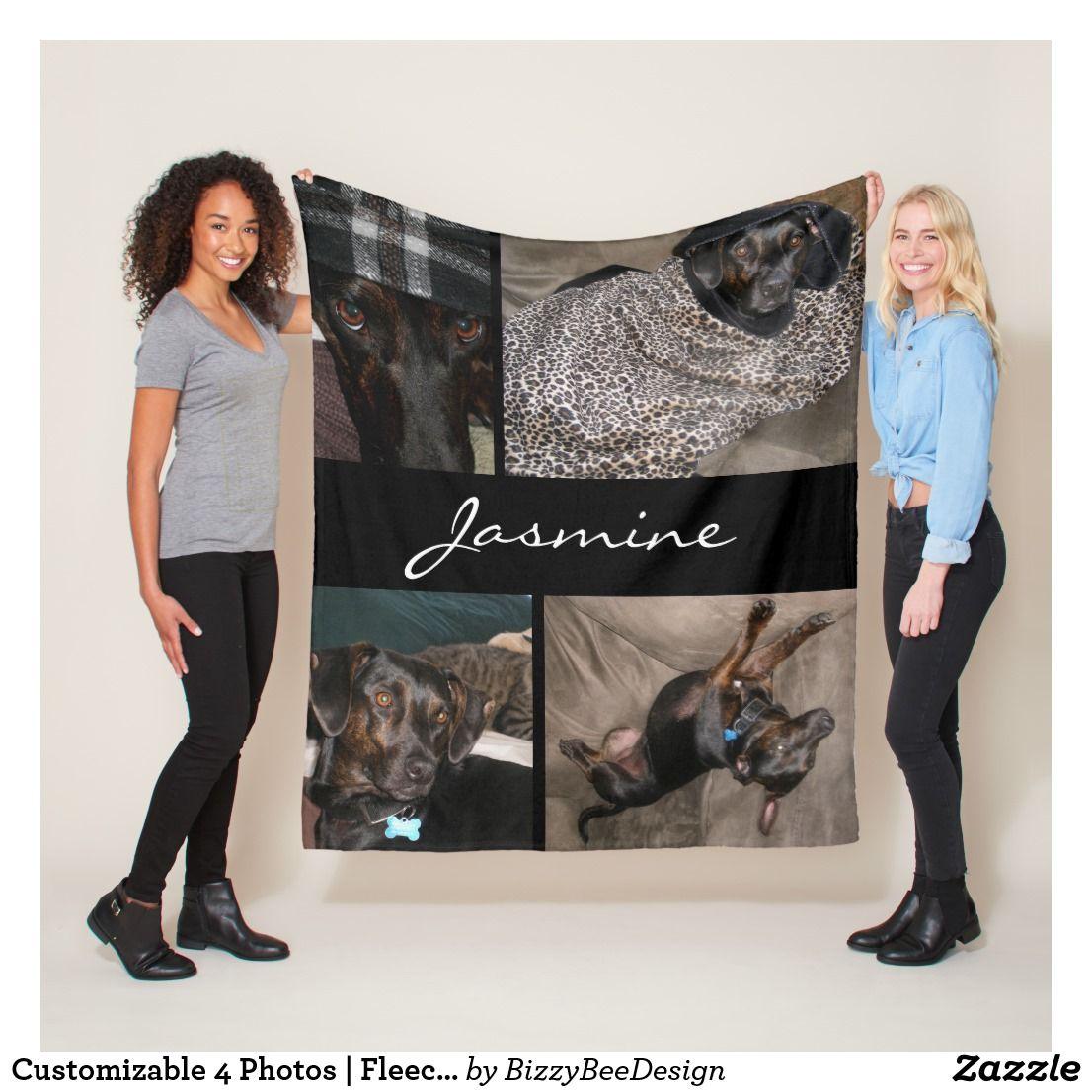 Modern Photos Collage Fleece Dog Blanket Zazzle Com Photo