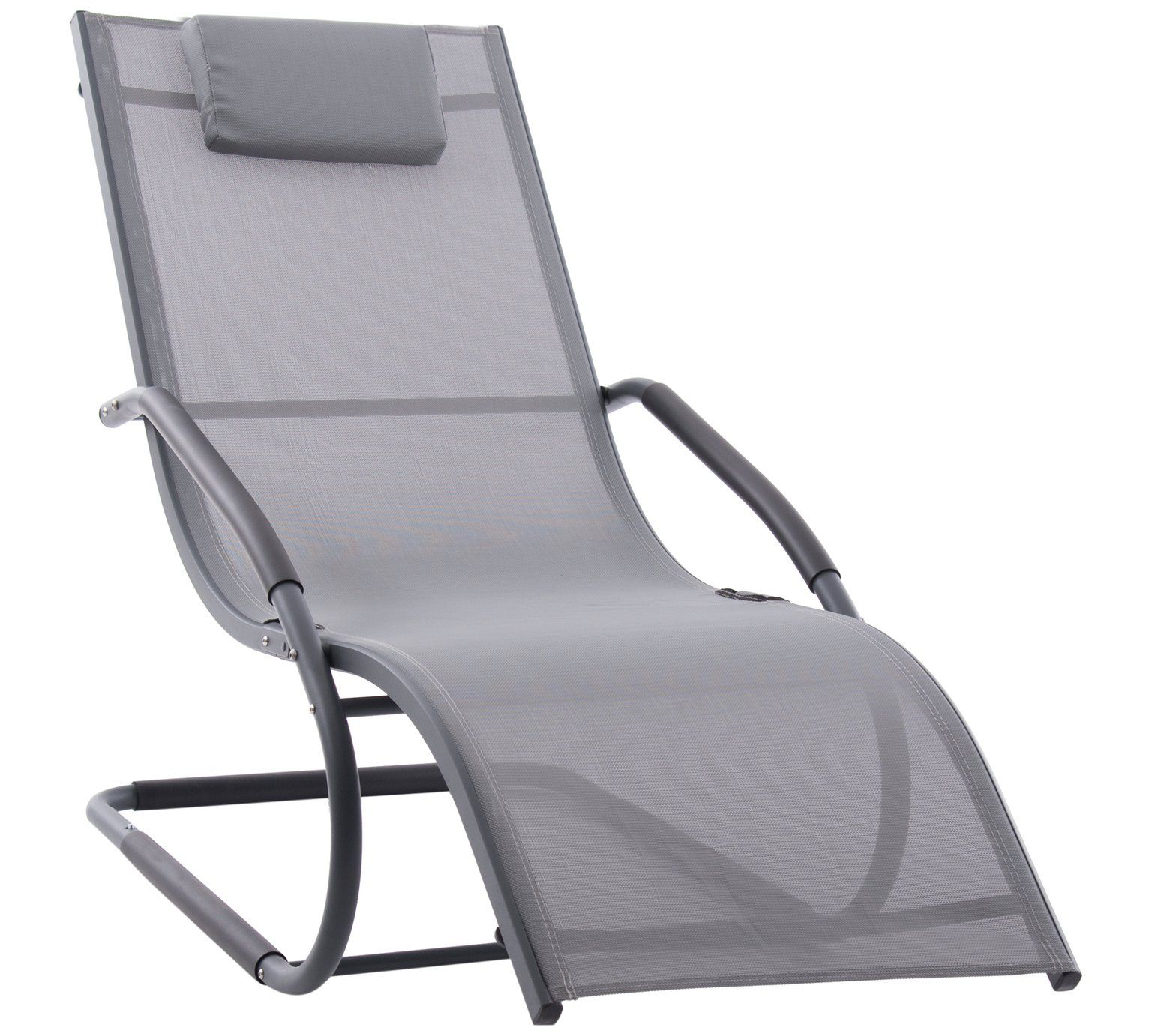 Buy Wave Lounger Grey On Matte Black At Argos Co Uk Visit Argos Co Uk To Shop Online For Garden Chairs And Sun Lounger Outdoor Recliner Garden Chairs Design