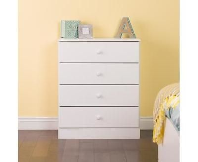 Dressers and Chests of Drawers 114397  Prepac Astrid 4 Drawer Dresser White    Wdbr. Dressers and Chests of Drawers 114397  Prepac Astrid 4 Drawer