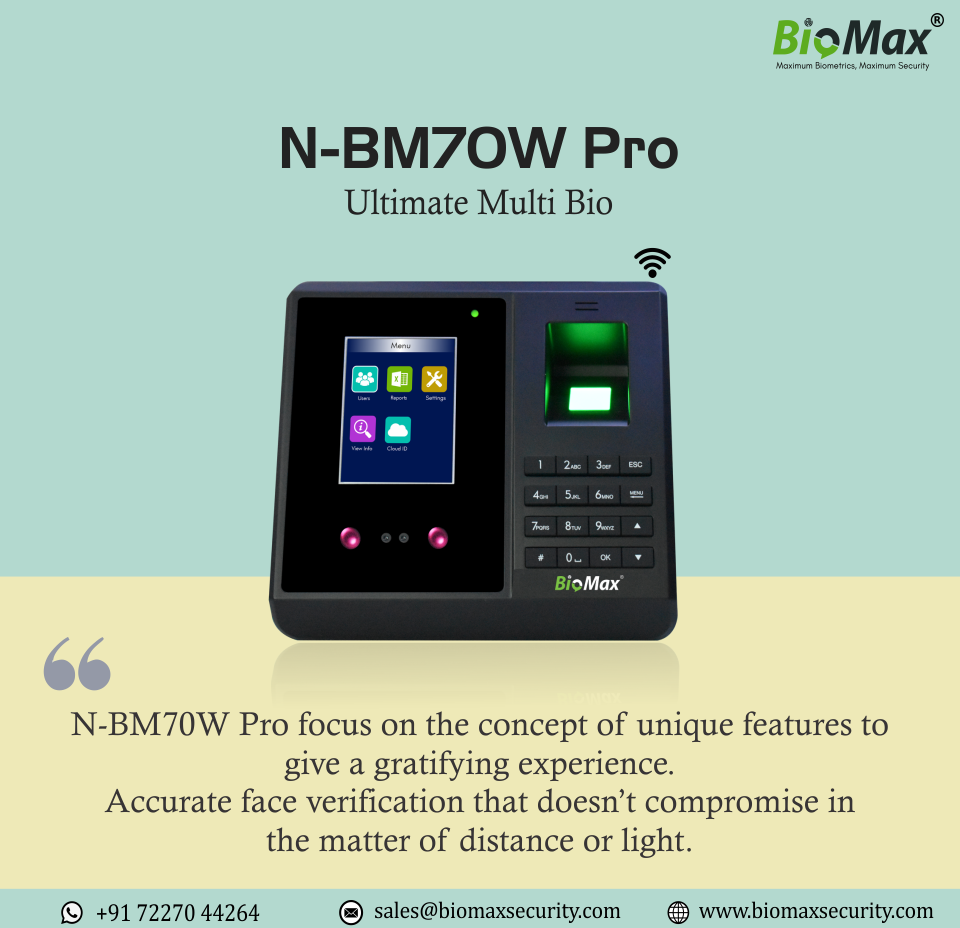 NBM70W Pro MultiBio Time Attendance and Access Control