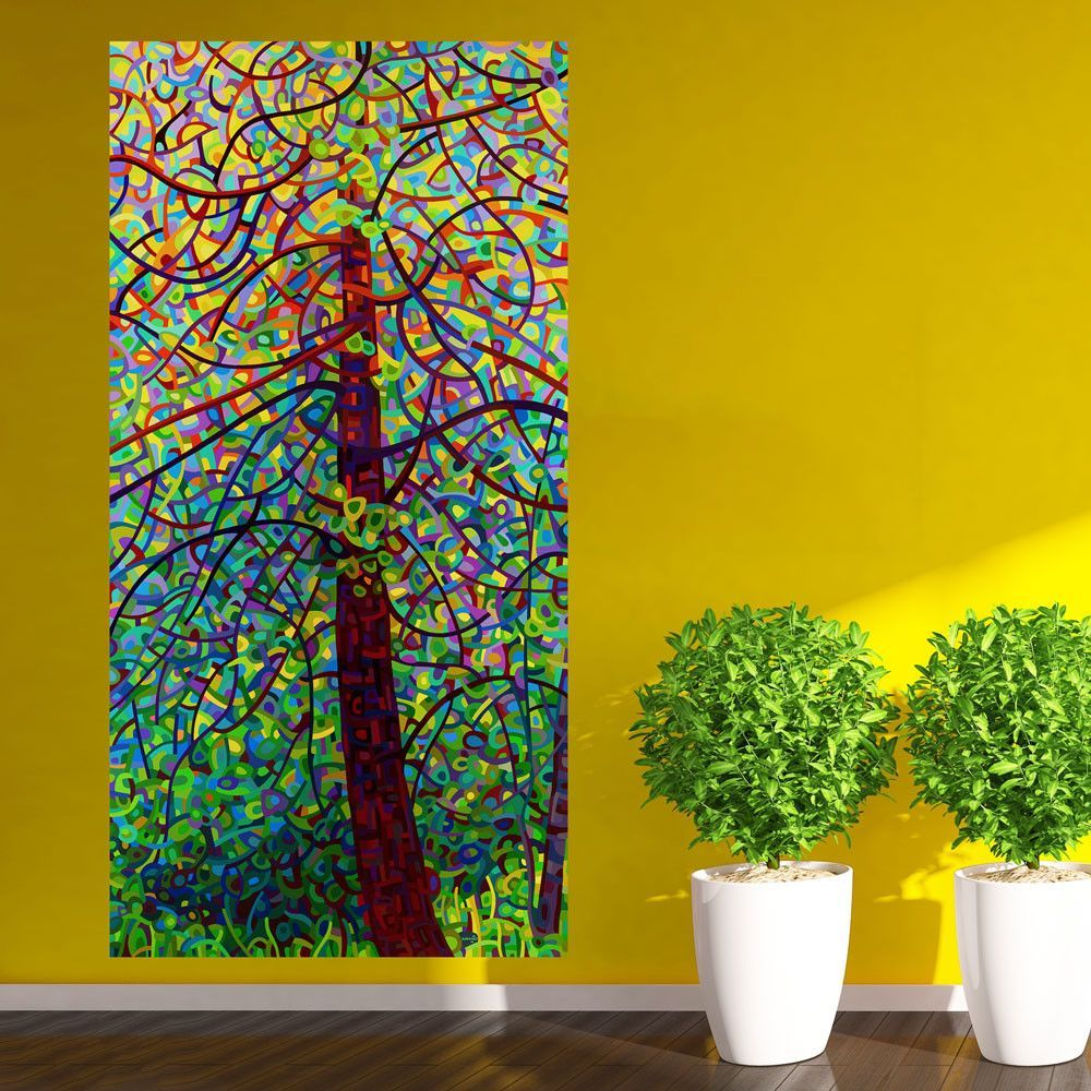 Abstract Forest Wall Sticker Decal – Kaleidoscope by Mandy Budan ...
