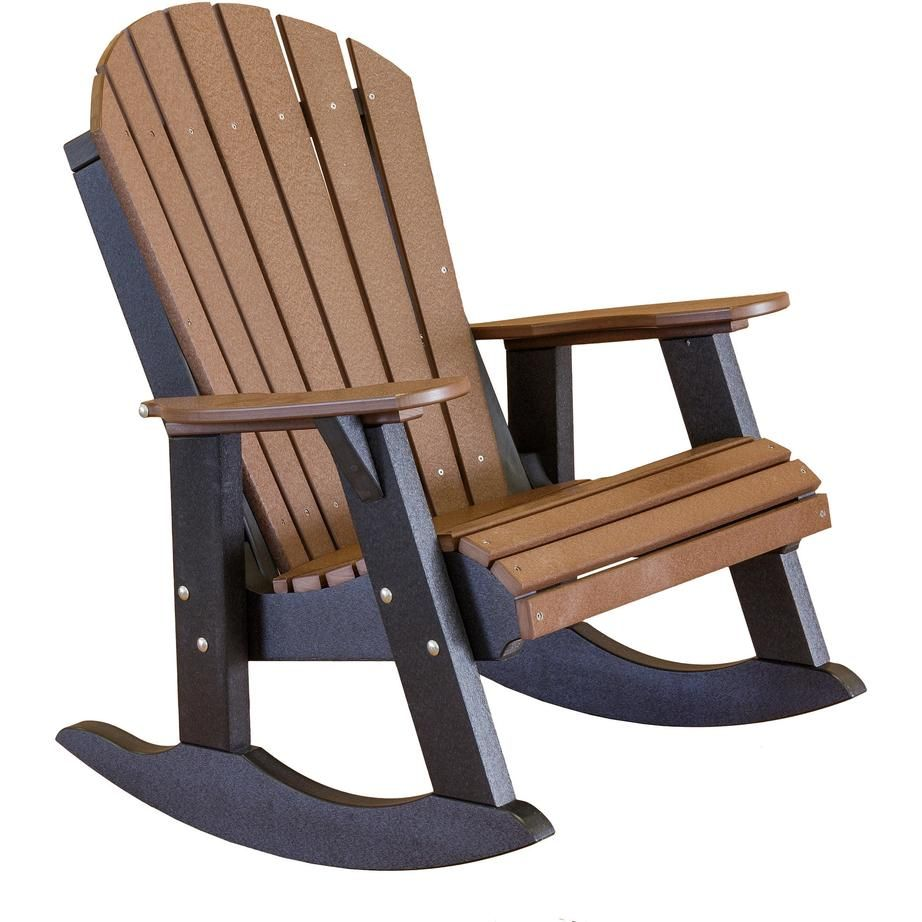 Little Cottage Polywood Adirondack Fanback Rocking Chair Thick Sy Boards 316 Marine Grade Fasteners The Most Comfortable
