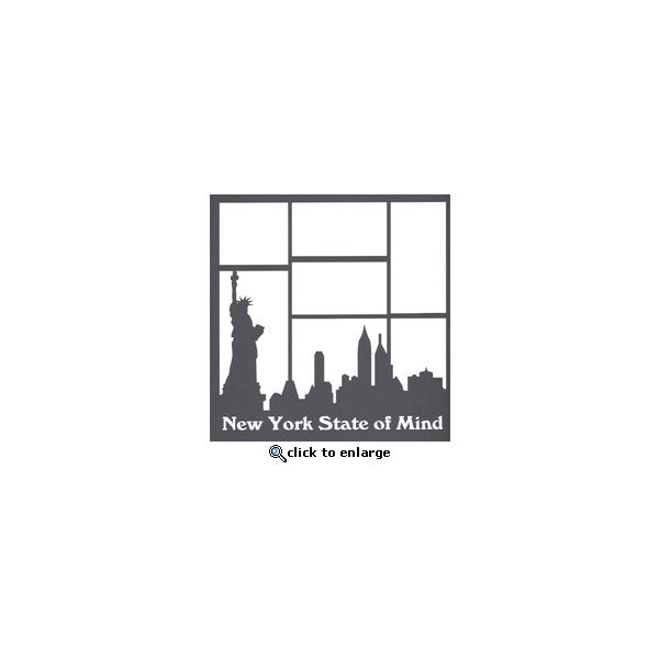 New York State of Mind 12 x 12 Overlay Laser Die Cut ($4.50) ❤ liked on Polyvore