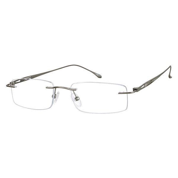 0e1816f65aa0 Zenni Mens Rimless Prescription Eyeglasses Gray Titanium 138712 in ...
